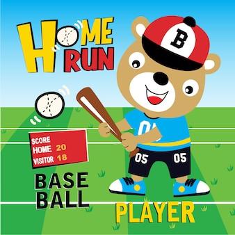 Vetor de animais dos desenhos animados de home run