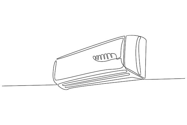 Vetor de ar condicionado de linha contínua