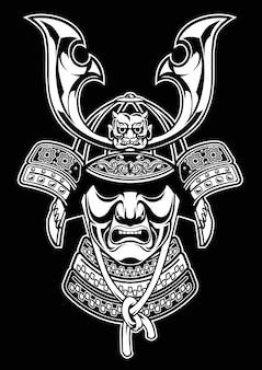 Vetor de armadura detalhada samurai