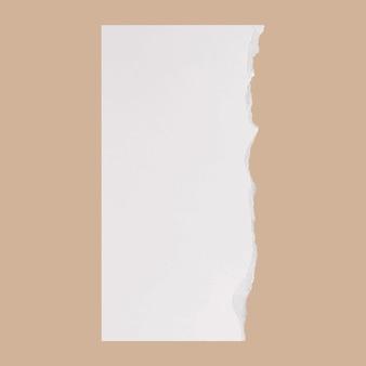 Vetor de artesanato de papel rasgado diy em estilo simples branco