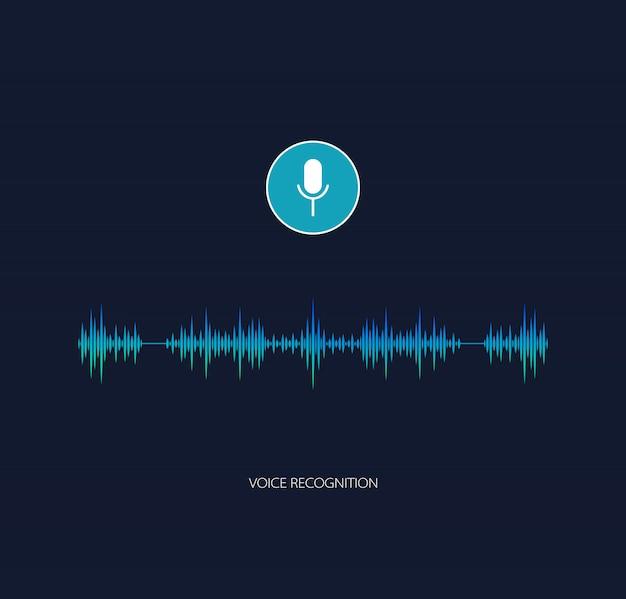Vetor de assistente de voz. reconhecimento de voz