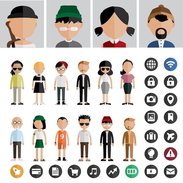 Vetor de avatar de pessoas