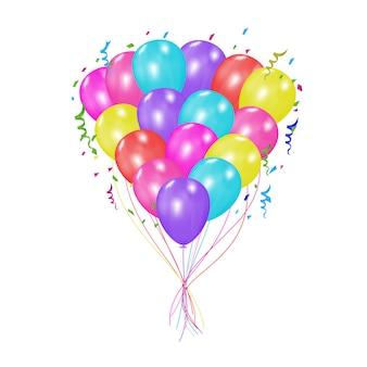 Vetor de balão colorido