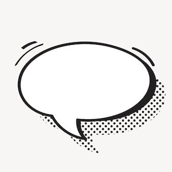 Vetor de balão de fala em meio-tom Vetor grátis