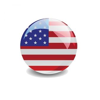 Vetor de bandeira dos estados unidos