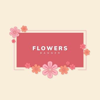 Vetor de bandeira floral