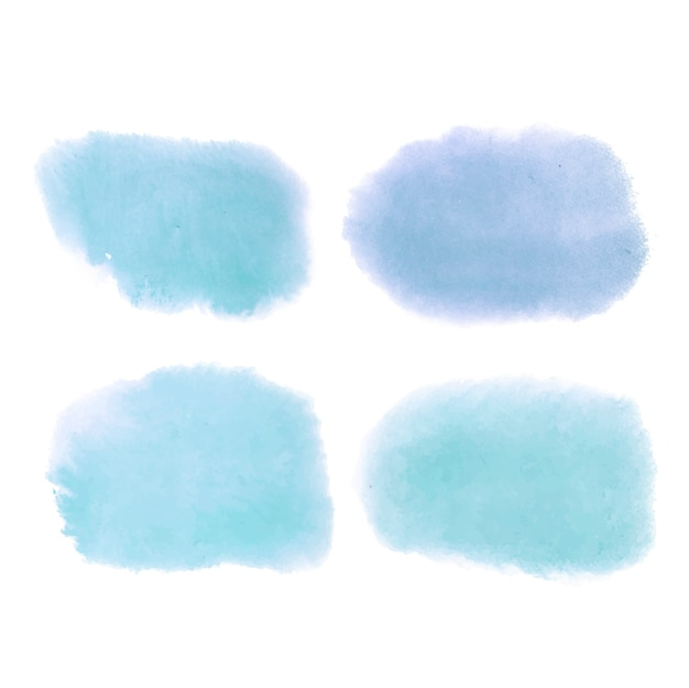 Vetor de banner azul estilo aquarela