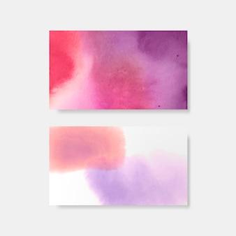Vetor de banner de estilo aquarela roxo