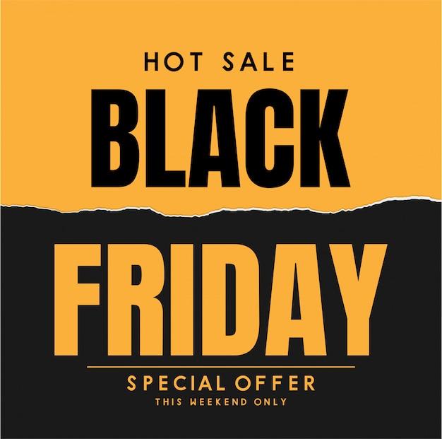 Vetor de banner de venda sexta-feira negra