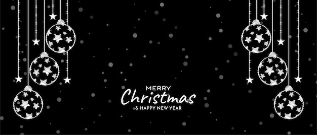 Vetor de banner decorativo elegante festival de feliz natal