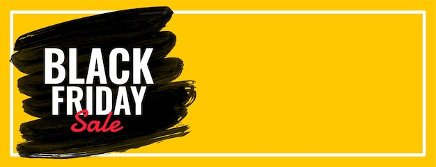 Vetor de banner preto da web ampla de venda sexta-feira
