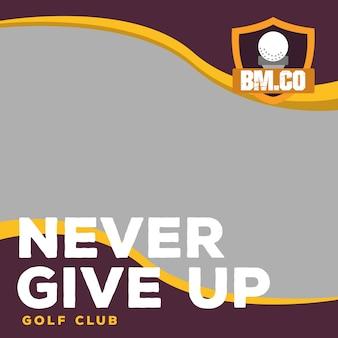 Vetor de banner web moderna de golfe