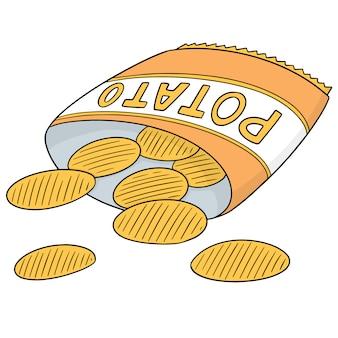 Vetor de batatas fritas