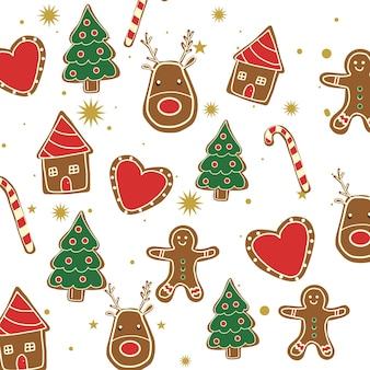 Vetor de biscoitos de natal
