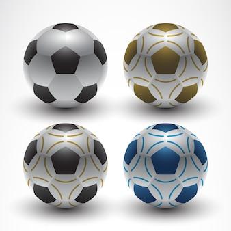 Vetor de bola de futebol realista