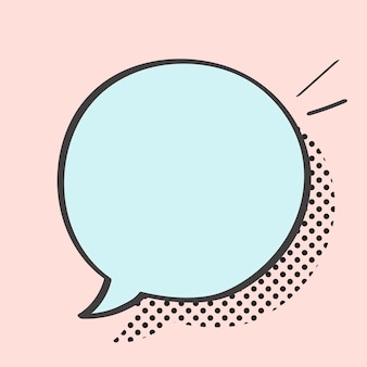 Vetor de bolha do discurso no estilo pop art