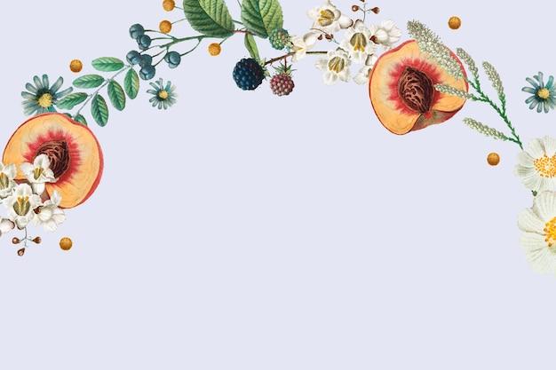 Vetor de borda lateral botânica com espaço de design