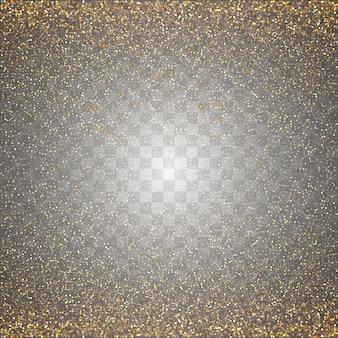 Vetor de brilhos dourados transparentes abstratos