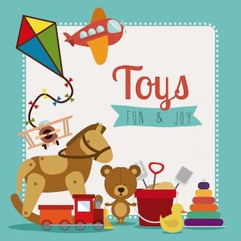 Vetor de brinquedos