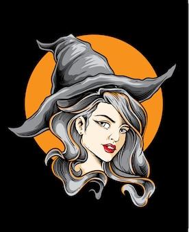 Vetor de bruxa bonita