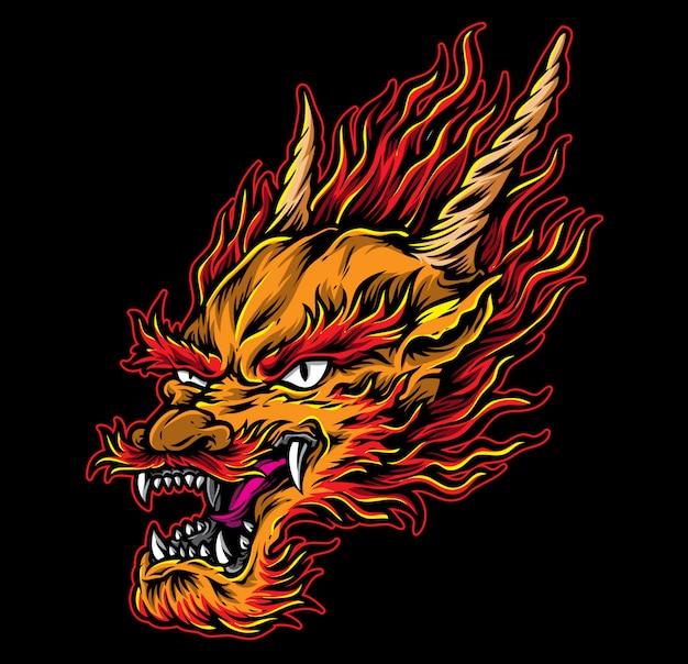 Vetor de cabeça de dragão