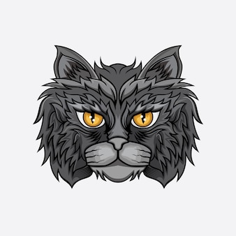 Vetor de cabeça de gato