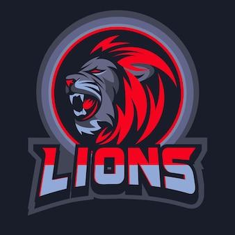 Vetor de cabeça de leão