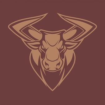 Vetor de cabeça de touro