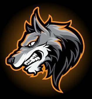 Vetor de cabeça de wolfy