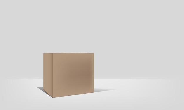Vetor de caixa de papel para mostrar seu design