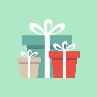Vetor de caixa de presente de natal