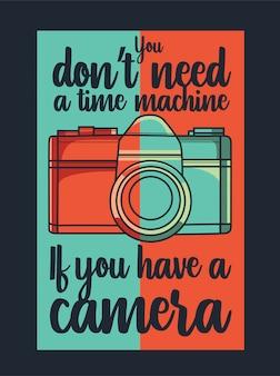Vetor de câmera com citação