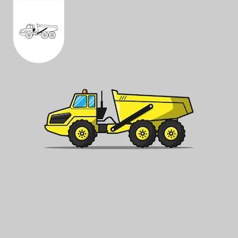 Vetor de caminhão basculante articulado