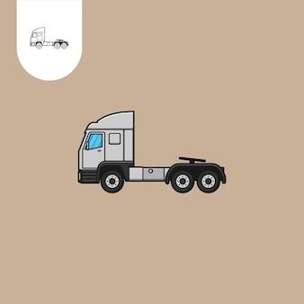 Vetor de caminhão de motor principal desenho animado de caminhão de motor principal