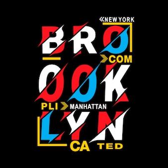 Vetor de camisa de t de new york brooklyn tipografia