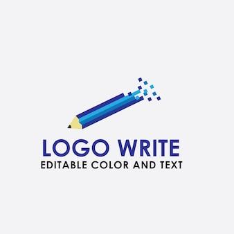 Vetor de caneta de escrita do logotipo