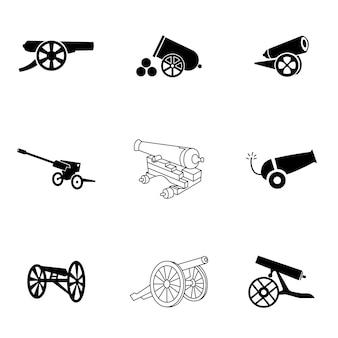 Vetor de canhão. ilustração de canhão simples, elementos editáveis, podem ser usados no design de logotipo