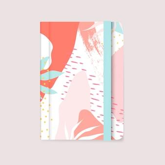 Vetor de capa de caderno de design colorido memphis