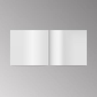 Vetor de capa de livro em branco.