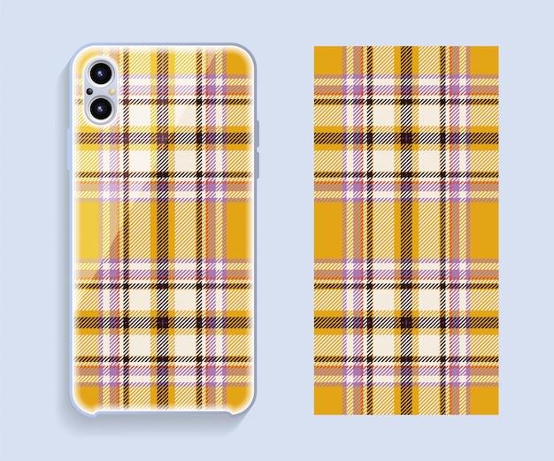 Vetor de capa de smartphone. padrão geométrico de modelo para parte traseira do telefone móvel