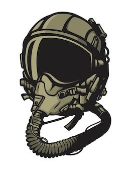 Vetor de capacete de piloto de jato