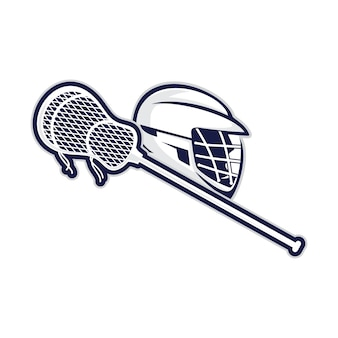 Vetor de capacete e casco de lacrosse