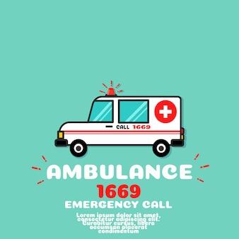Vetor de carro de ambulância