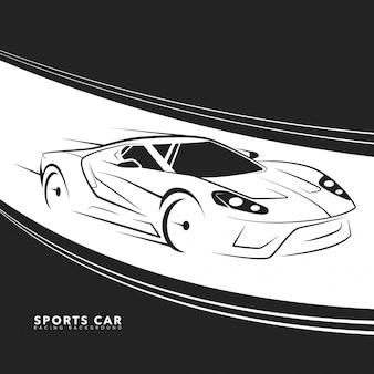 Vetor de carro esportivo