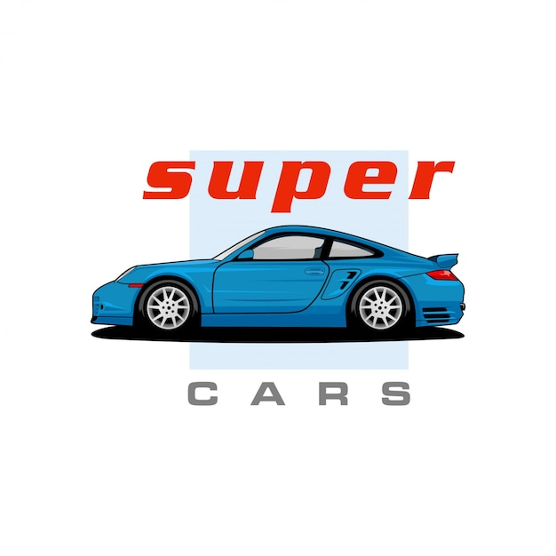 Vetor de carros super