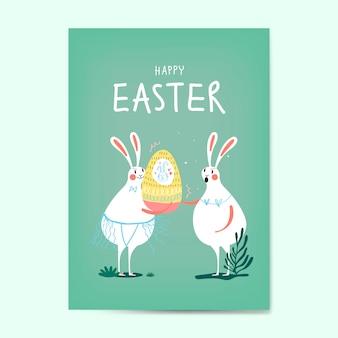 Vetor de cartão de celebração de páscoa