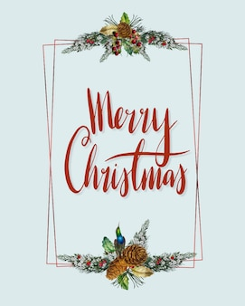 Vetor de cartão de feliz natal