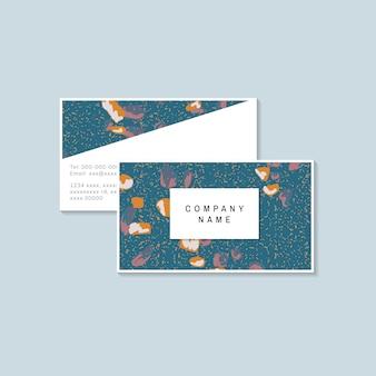 Vetor de cartão de visita de padrão de terrazzo colorido