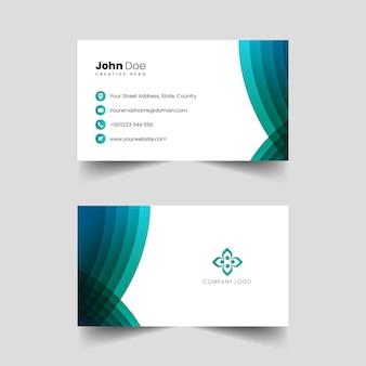 Vetor de cartão de visita profissional criativo