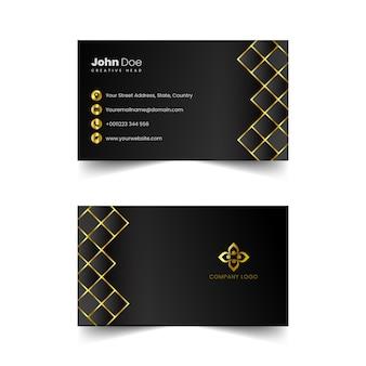 Vetor de cartão de visita profissional dourado